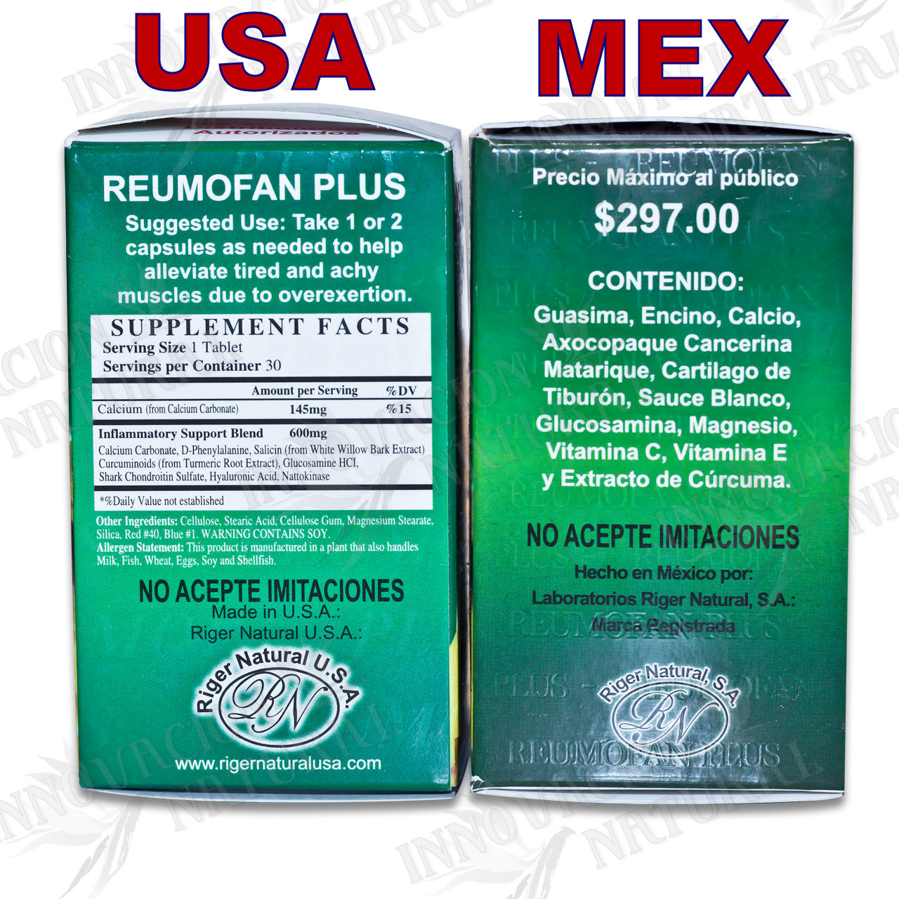 Reumofan Plus Ingredients